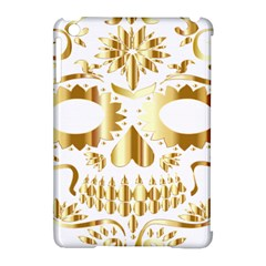 Sugar Skull Bones Calavera Ornate Apple Ipad Mini Hardshell Case (compatible With Smart Cover)