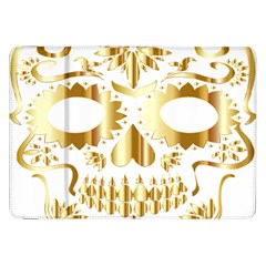 Sugar Skull Bones Calavera Ornate Samsung Galaxy Tab 8 9  P7300 Flip Case