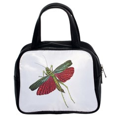 Grasshopper Insect Animal Isolated Classic Handbags (2 Sides)