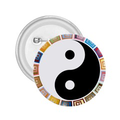 Yin Yang Eastern Asian Philosophy 2 25  Buttons