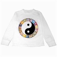 Yin Yang Eastern Asian Philosophy Kids Long Sleeve T Shirts by Nexatart