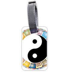 Yin Yang Eastern Asian Philosophy Luggage Tags (one Side)  by Nexatart