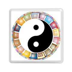Yin Yang Eastern Asian Philosophy Memory Card Reader (square)  by Nexatart