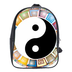 Yin Yang Eastern Asian Philosophy School Bags (xl)