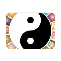Yin Yang Eastern Asian Philosophy Double Sided Flano Blanket (mini)  by Nexatart