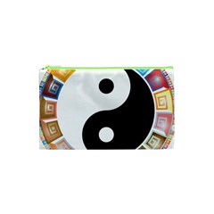 Yin Yang Eastern Asian Philosophy Cosmetic Bag (xs) by Nexatart