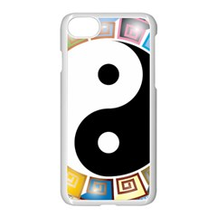 Yin Yang Eastern Asian Philosophy Apple Iphone 7 Seamless Case (white) by Nexatart