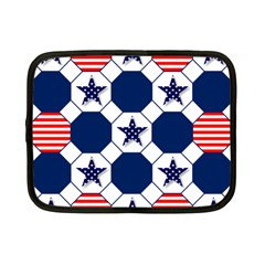 Patriotic Symbolic Red White Blue Netbook Case (small)
