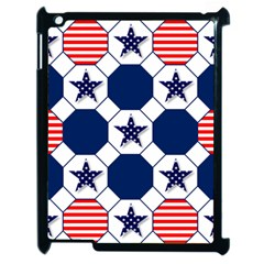 Patriotic Symbolic Red White Blue Apple Ipad 2 Case (black)