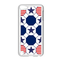 Patriotic Symbolic Red White Blue Apple Ipod Touch 5 Case (white) by Nexatart