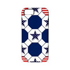Patriotic Symbolic Red White Blue Apple Iphone 5 Classic Hardshell Case (pc+silicone)