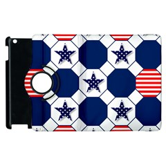 Patriotic Symbolic Red White Blue Apple Ipad 3/4 Flip 360 Case