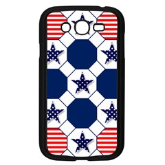 Patriotic Symbolic Red White Blue Samsung Galaxy Grand Duos I9082 Case (black) by Nexatart