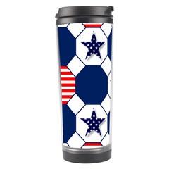Patriotic Symbolic Red White Blue Travel Tumbler