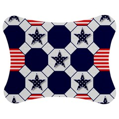 Patriotic Symbolic Red White Blue Jigsaw Puzzle Photo Stand (bow) by Nexatart