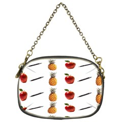 Ppap Pen Pineapple Apple Pen Chain Purses (one Side)  by Nexatart