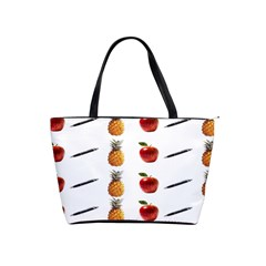 Ppap Pen Pineapple Apple Pen Shoulder Handbags by Nexatart