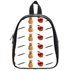 Ppap Pen Pineapple Apple Pen School Bags (Small)  by Nexatart