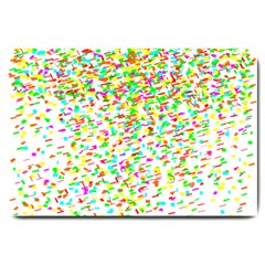 Confetti Celebration Party Colorful Large Doormat
