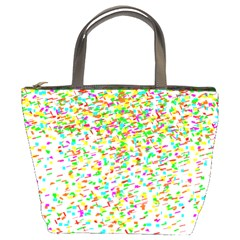 Confetti Celebration Party Colorful Bucket Bags by Nexatart