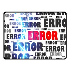 Error Crash Problem Failure Fleece Blanket (small)