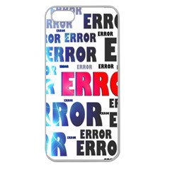 Error Crash Problem Failure Apple Seamless Iphone 5 Case (clear)