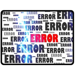Error Crash Problem Failure Double Sided Fleece Blanket (large)