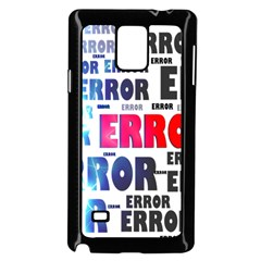 Error Crash Problem Failure Samsung Galaxy Note 4 Case (black)