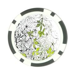 Floral Pattern Background Poker Chip Card Guard by Nexatart
