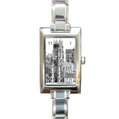 York Cathedral Vector Clipart Rectangle Italian Charm Watch