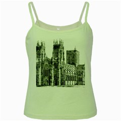 York Cathedral Vector Clipart Green Spaghetti Tank