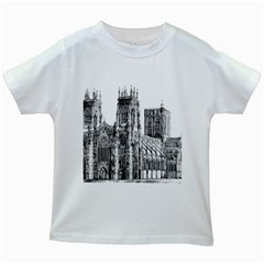 York Cathedral Vector Clipart Kids White T Shirts