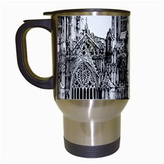 York Cathedral Vector Clipart Travel Mugs (White)