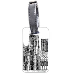 York Cathedral Vector Clipart Luggage Tags (one Side)  by Nexatart