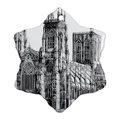 York Cathedral Vector Clipart Ornament (snowflake)