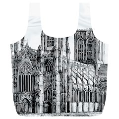 York Cathedral Vector Clipart Full Print Recycle Bags (l)