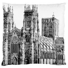 York Cathedral Vector Clipart Large Flano Cushion Case (two Sides)