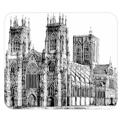 York Cathedral Vector Clipart Double Sided Flano Blanket (small)