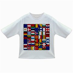 Europe Flag Star Button Blue Infant/Toddler T-Shirts