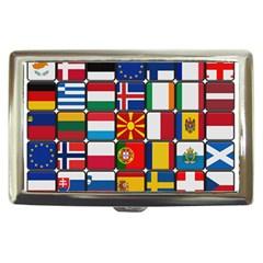 Europe Flag Star Button Blue Cigarette Money Cases by Nexatart