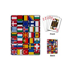 Europe Flag Star Button Blue Playing Cards (mini)  by Nexatart