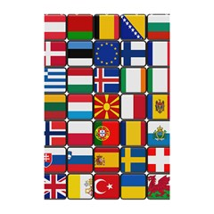 Europe Flag Star Button Blue Shower Curtain 48  X 72  (small)
