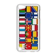 Europe Flag Star Button Blue Apple Ipod Touch 5 Case (white) by Nexatart