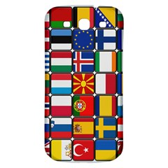 Europe Flag Star Button Blue Samsung Galaxy S3 S Iii Classic Hardshell Back Case