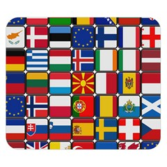 Europe Flag Star Button Blue Double Sided Flano Blanket (small)  by Nexatart