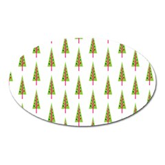 Christmas Tree Oval Magnet by Nexatart
