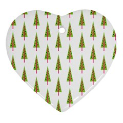 Christmas Tree Heart Ornament (two Sides)