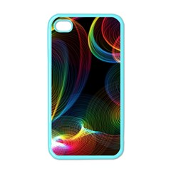 Abstract Rainbow Twirls Apple Iphone 4 Case (color)
