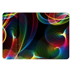 Abstract Rainbow Twirls Samsung Galaxy Tab 8 9  P7300 Flip Case