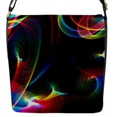 Abstract Rainbow Twirls Flap Messenger Bag (s)